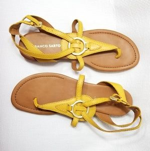 Franco Sarto Size 10 M Gale Leather Thong Sandals